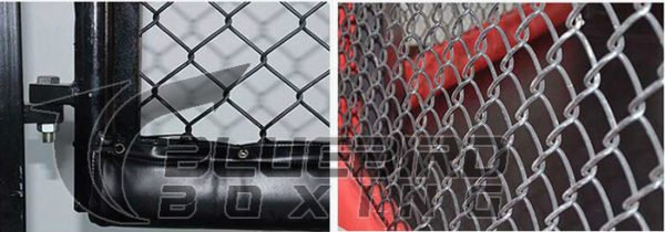 raised octagon mma cage